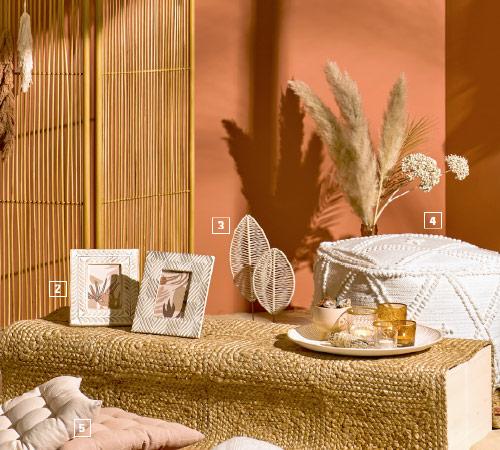 Ozdoby ogrodowe z drewna i bambusa w stylu desert flower