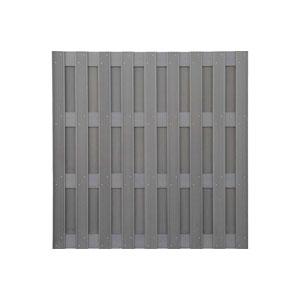 Panel ogrodzeniowy WPC jasny szary 180x180 cm